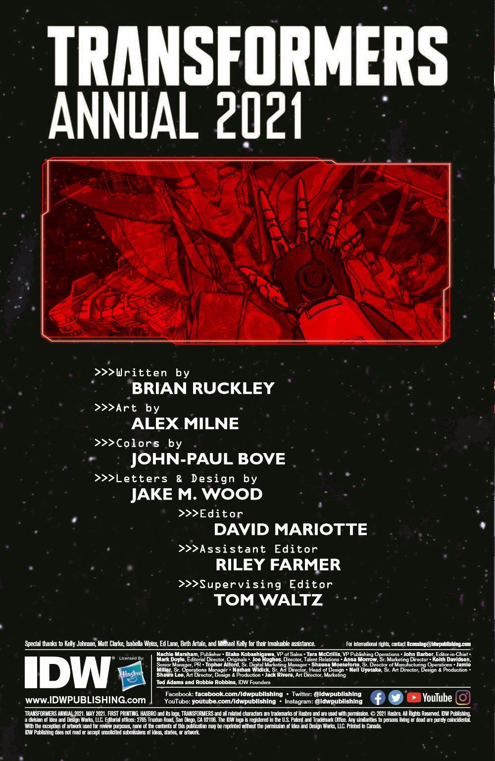 TFAnnual-pr-2 ComicList Previews: TRANSFORMERS ANNUAL 2021