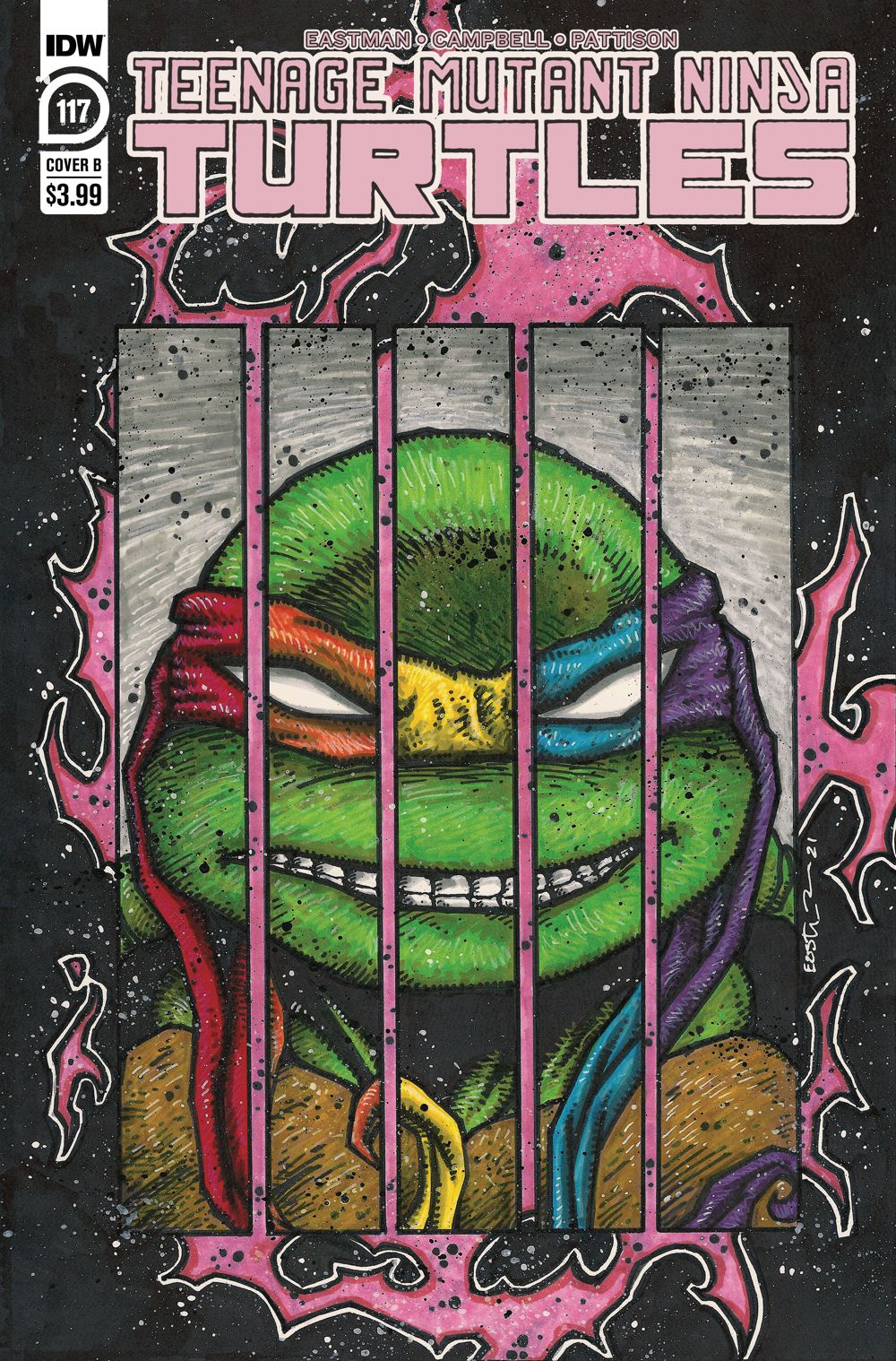 TMNT117_cvrB ComicList: IDW Publishing New Releases for 06/09/2021