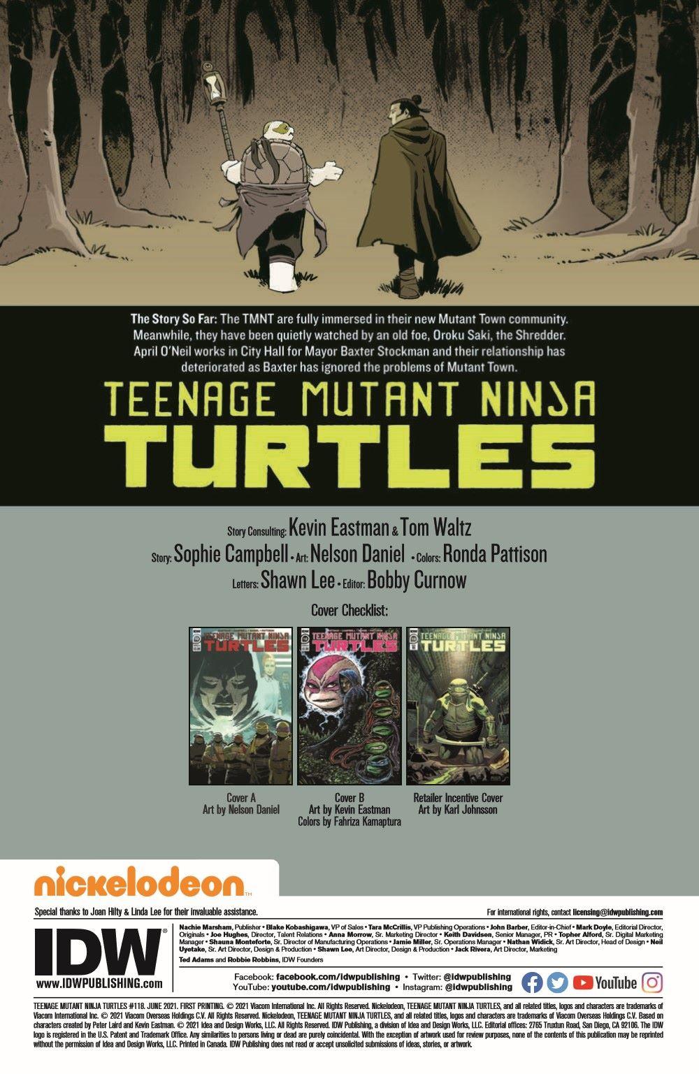TMNT118_pr-2 ComicList Previews: TEENAGE MUTANT NINJA TURTLES #118