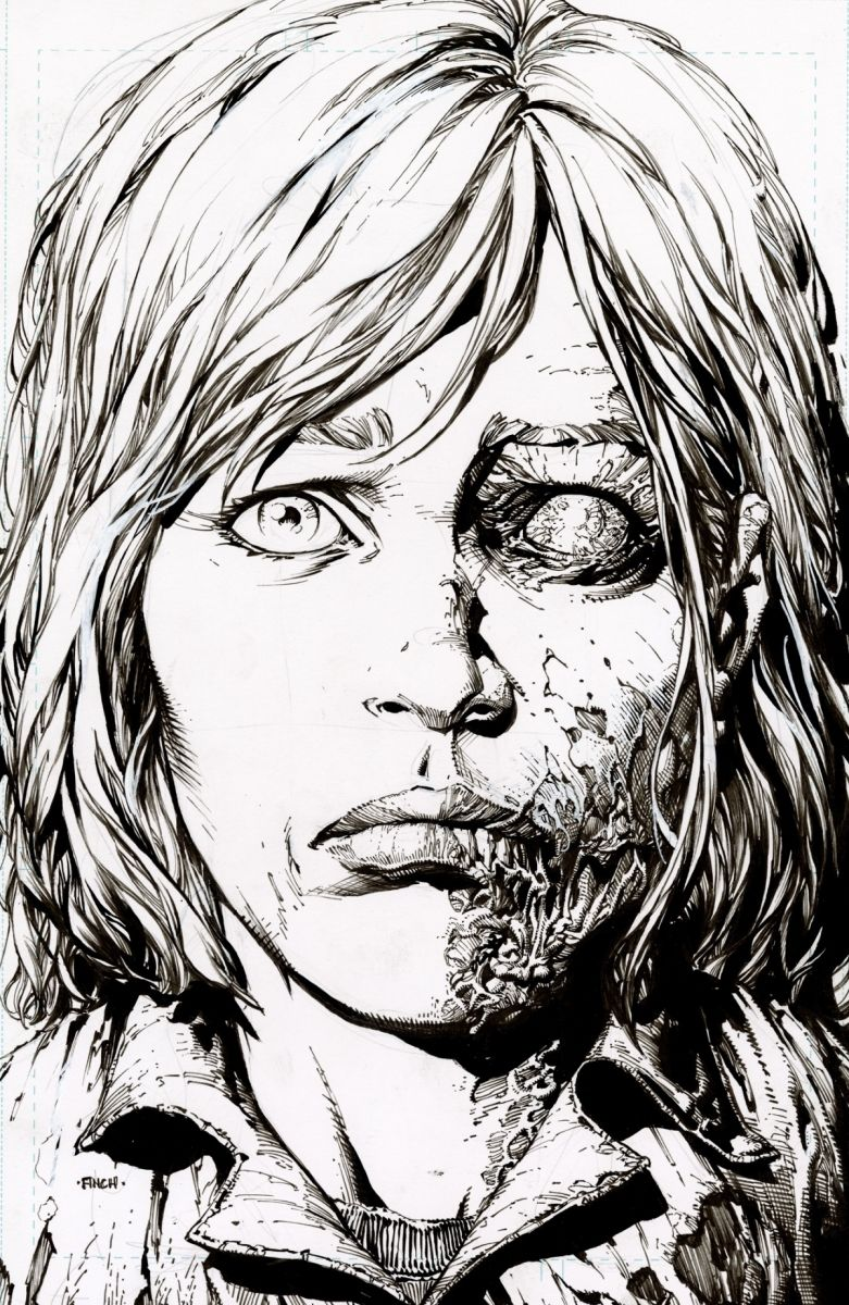 TWDDLX12B_2ndPtg_BWFinch1_c6815a0147f8285e3b5042ebb3626151-2 THE WALKING DEAD DELUXE #7-12 return with new printings