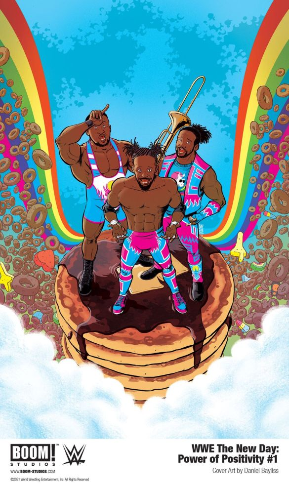 WWE_NewDay_PowerPositivity_001_Cover_PROMO-1 First Look at WWE THE NEW DAY: POWER OF POSITIVITY #1 from BOOM! Studios