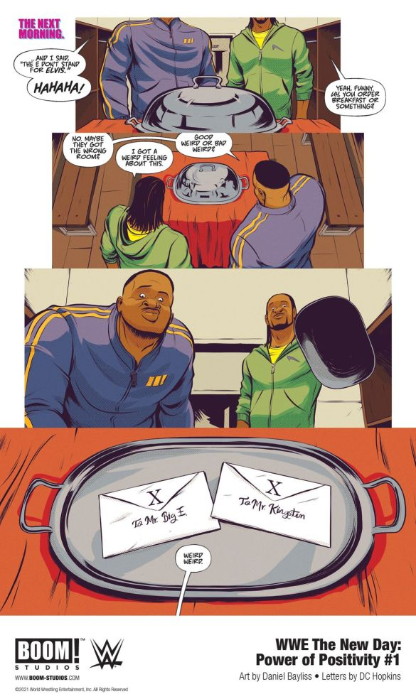 WWE_NewDay_PowerPositivity_001_InteriorArt_003_PROMO-1 First Look at WWE THE NEW DAY: POWER OF POSITIVITY #1 from BOOM! Studios