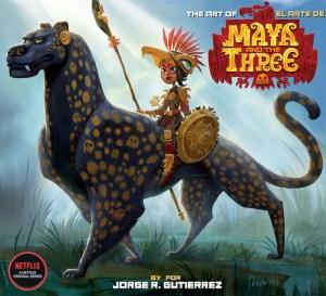 mayacov-300x273 Netflix series MAYA AND THE THREE receives art book