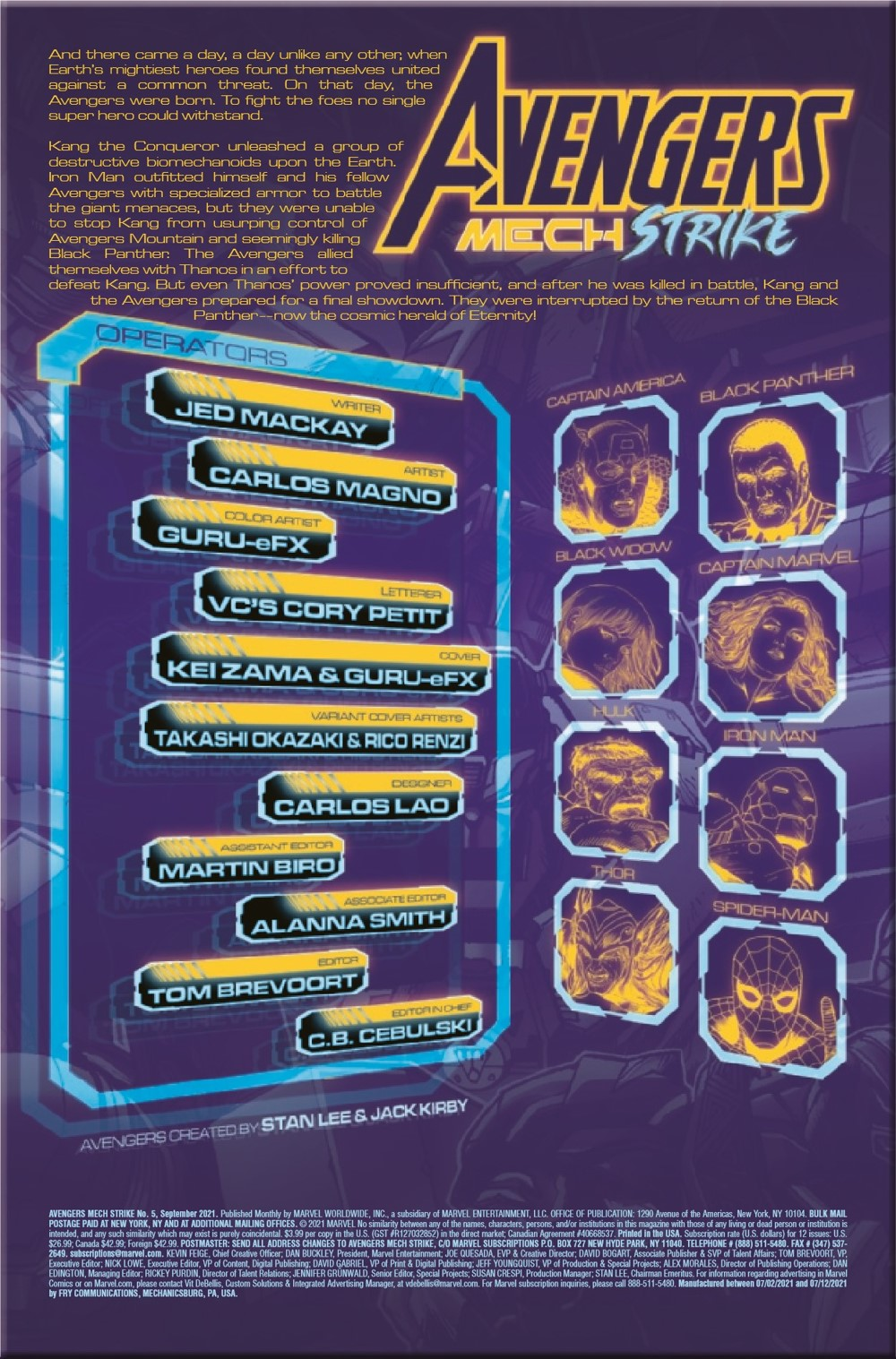 AVENMECHST2021005_Preview-2 ComicList Previews: AVENGERS MECH STRIKE #5 (OF 5)