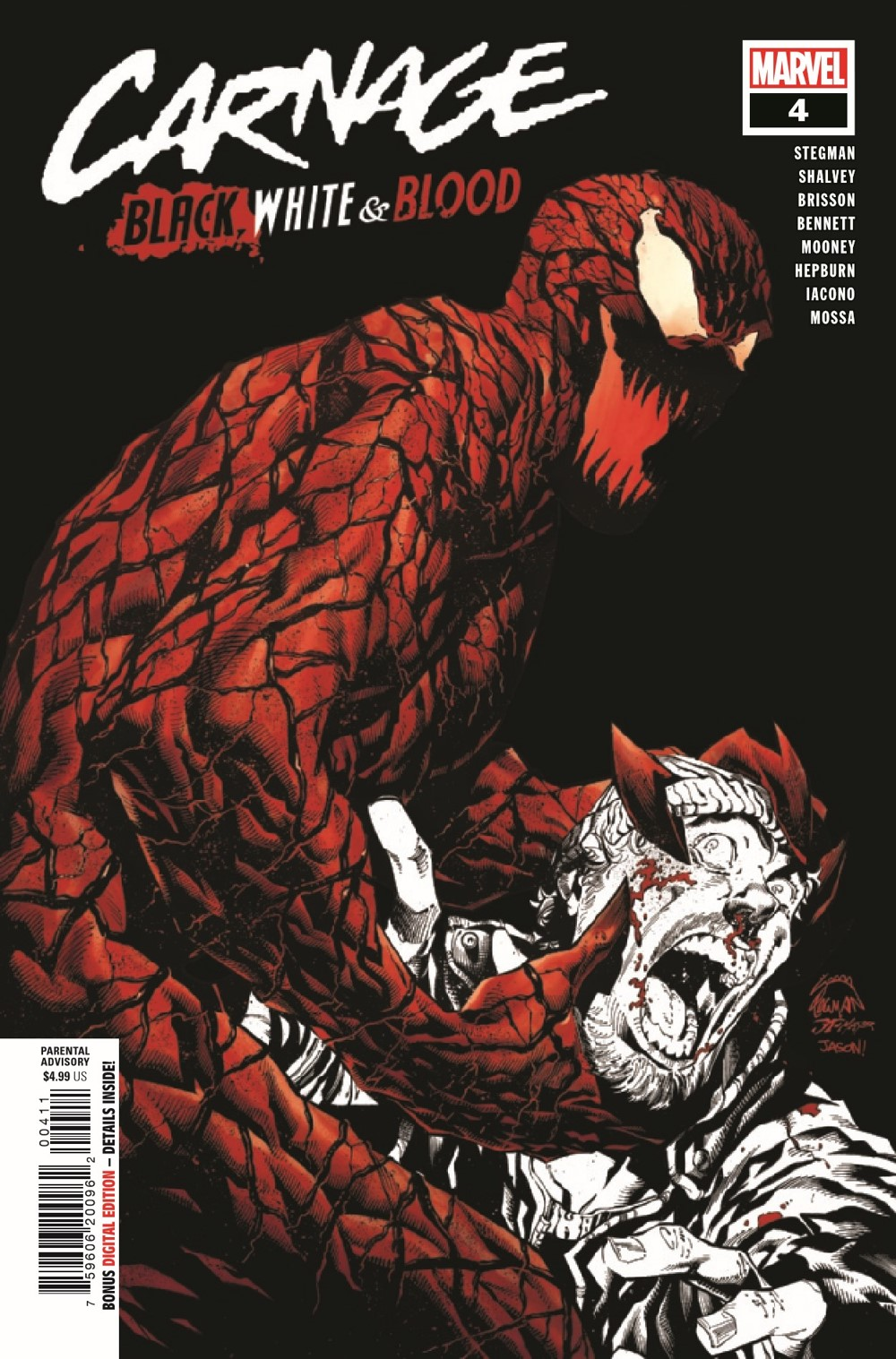 CARNBLKWHBL2021004_Preview-1 ComicList Previews: CARNAGE BLACK WHITE AND BLOOD #4 (OF 4)