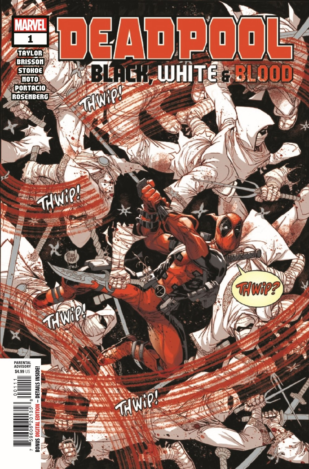 DPOOLBLKWHBL2021001_Preview-1 ComicList Previews: DEADPOOL BLACK WHITE AND BLOOD #1 (OF 4)