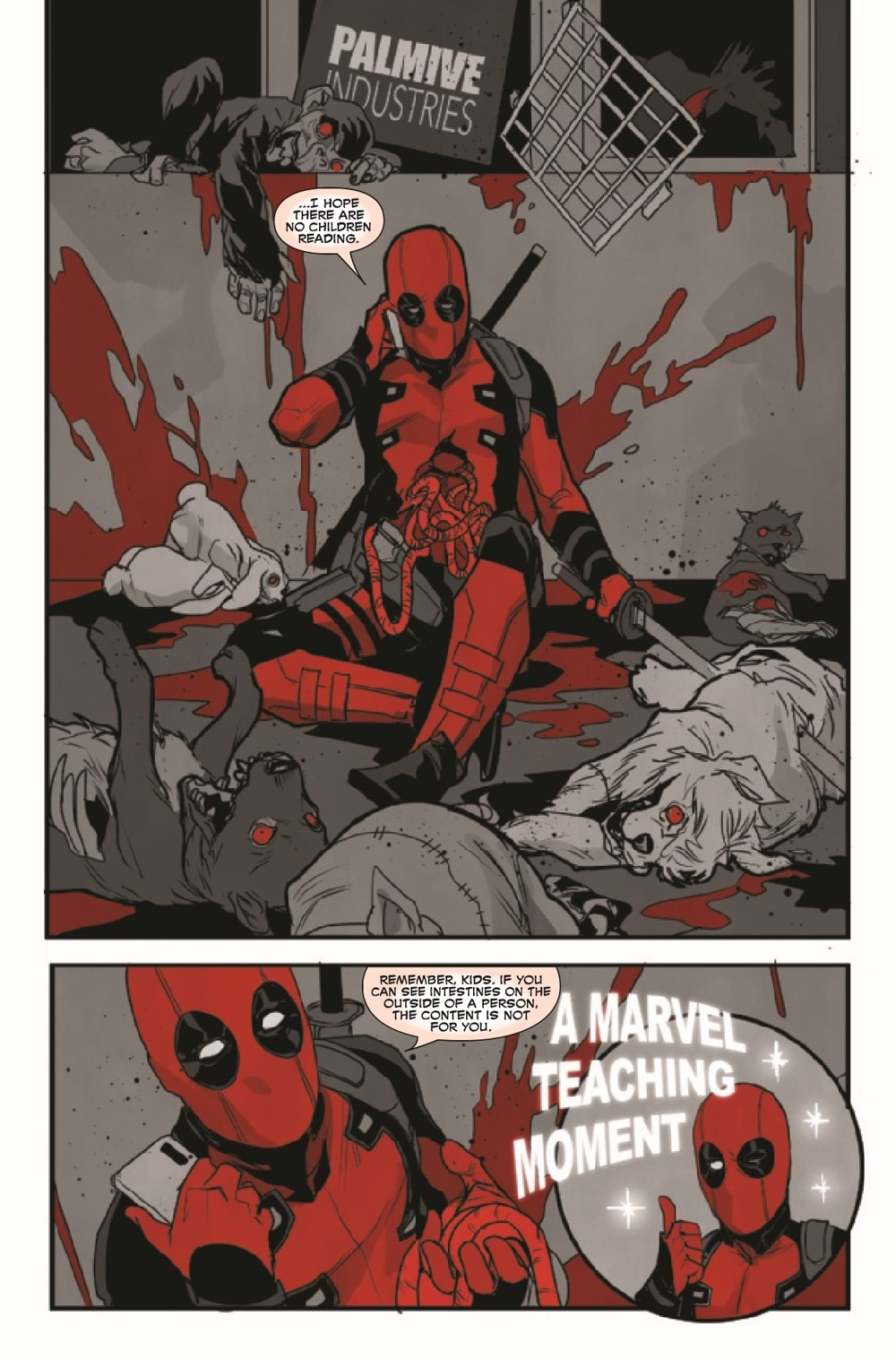 DPOOLBLKWHBL2021001_Preview-4 ComicList Previews: DEADPOOL BLACK WHITE AND BLOOD #1 (OF 4)