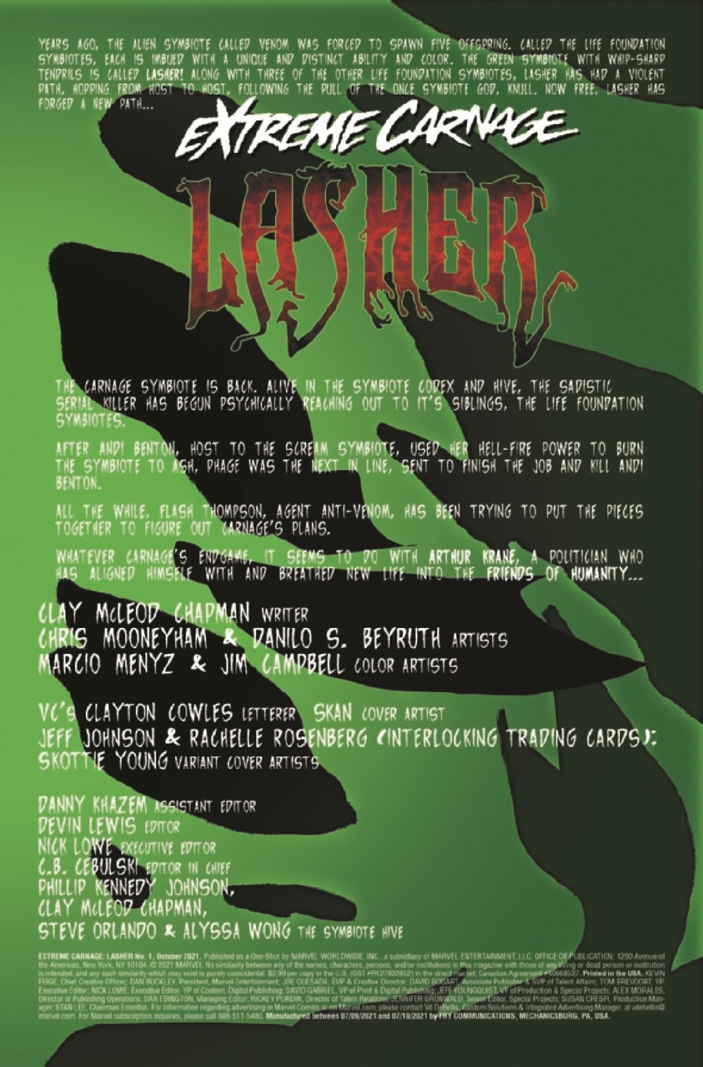 EXTCARNLA2021001_Preview-2 ComicList Previews: EXTREME CARNAGE LASHER #1