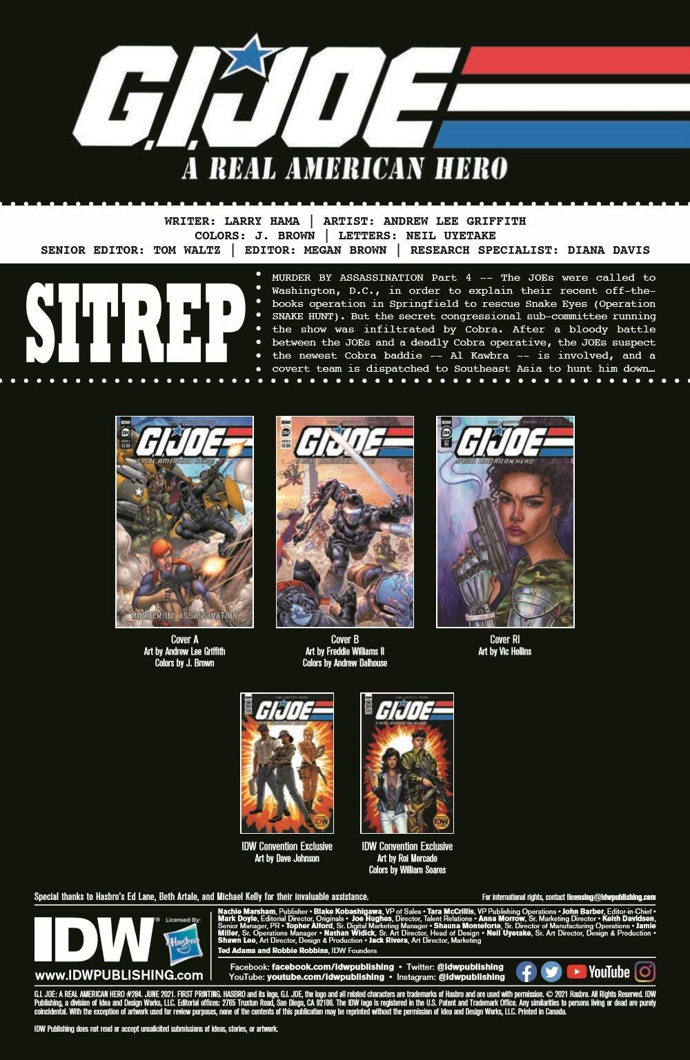 GIJoeRAH284-pr-2 ComicList Previews: G.I. JOE A REAL AMERICAN HERO #284