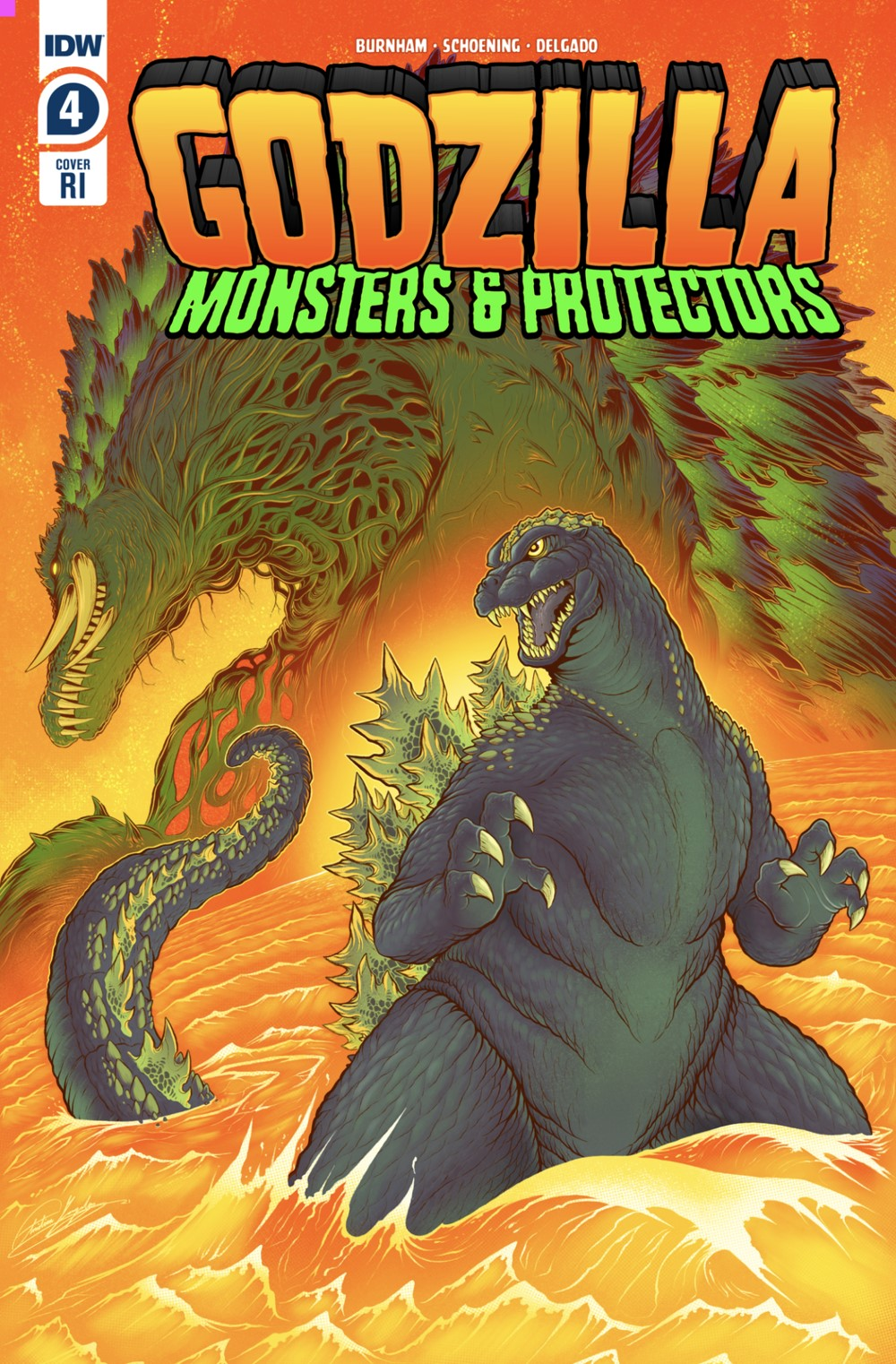 GODZILLA-MONSTERS-PROTECTORS-4-RI-COVER ComicList: IDW Publishing New Releases for 07/21/2021