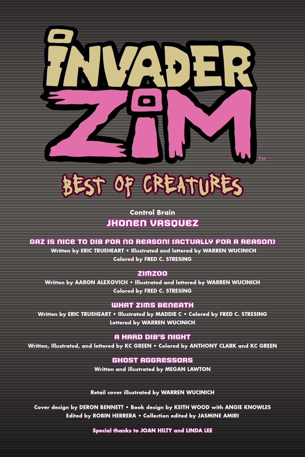 INVADERZIM-BEST-OF-CREATURES-REFERENCE-004 ComicList Previews: INVADER ZIM BEST OF CREATURES VOLUME 1 TP