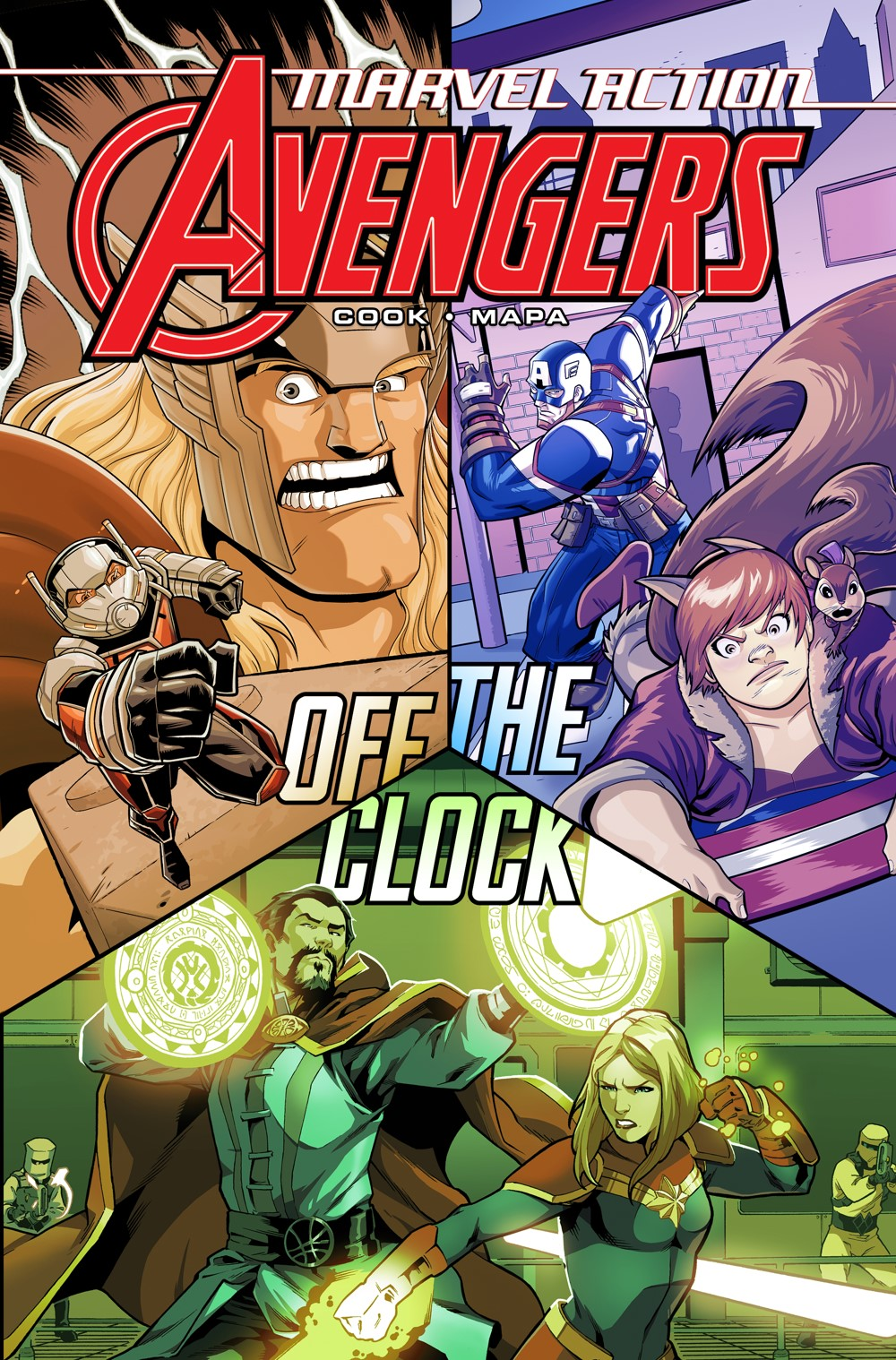 MA_Avengers_OTC_Cover1 ComicList Previews: MARVEL ACTION AVENGERS VOLUME 5 OFF THE CLOCK TP