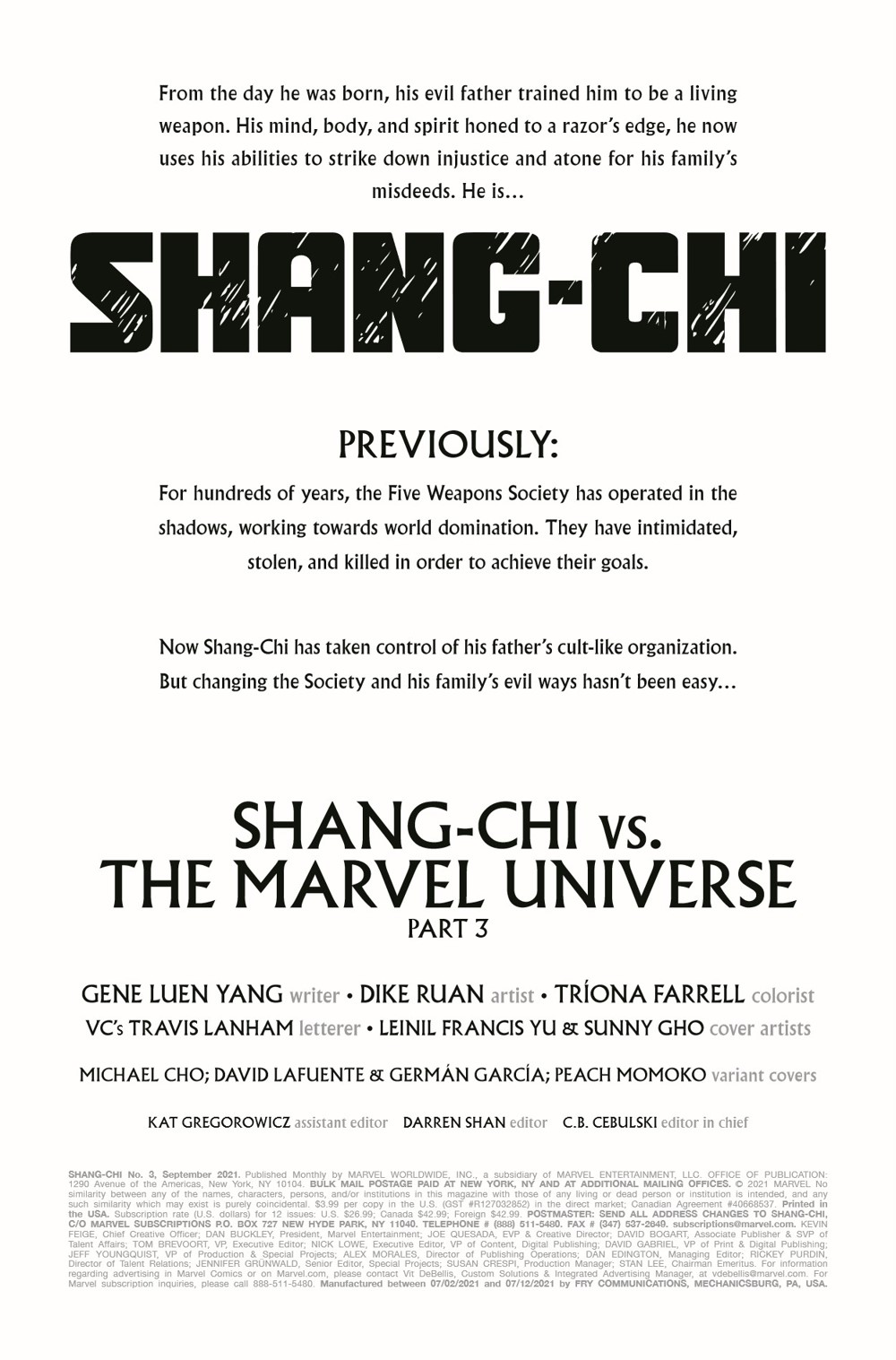 SHANGCHI2021003_Preview-2 ComicList Previews: SHANG-CHI #3
