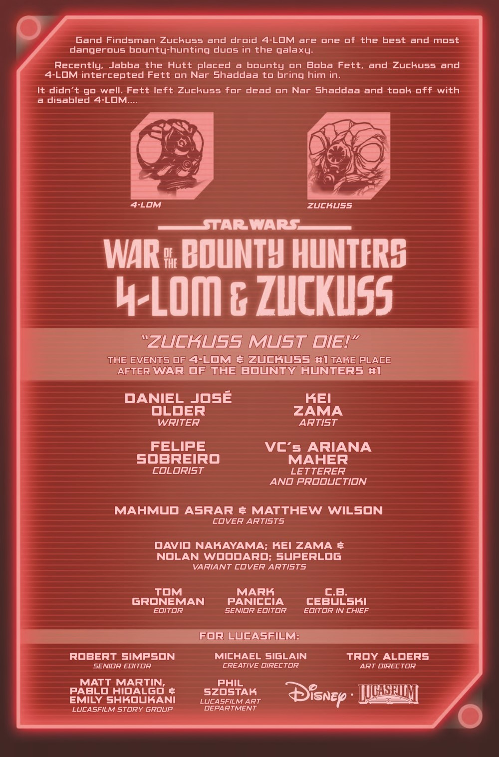 STWWAROTBH4LOMZUCK2021001_Preview-2 ComicList Previews: STAR WARS WAR OF THE BOUNTY HUNTERS 4-LOM AND ZUCKUSS #1