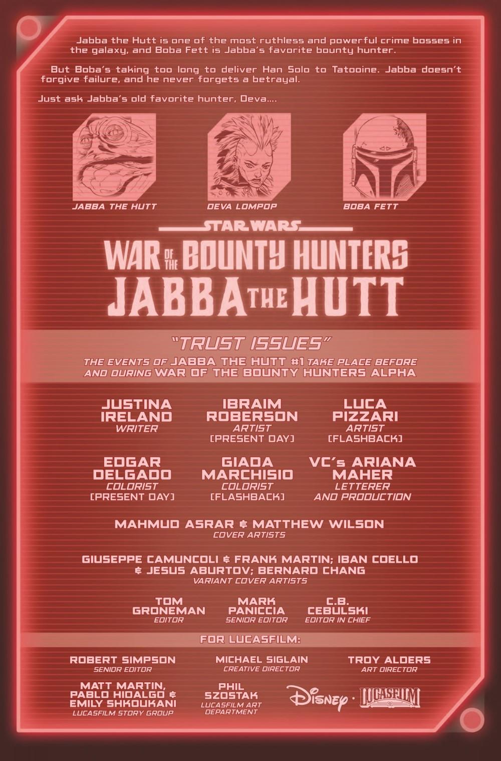 STWWAROTBHJABBAT2021001_Preview-2 ComicList Previews: STAR WARS WAR OF THE BOUNTY HUNTERS JABBA THE HUTT #1