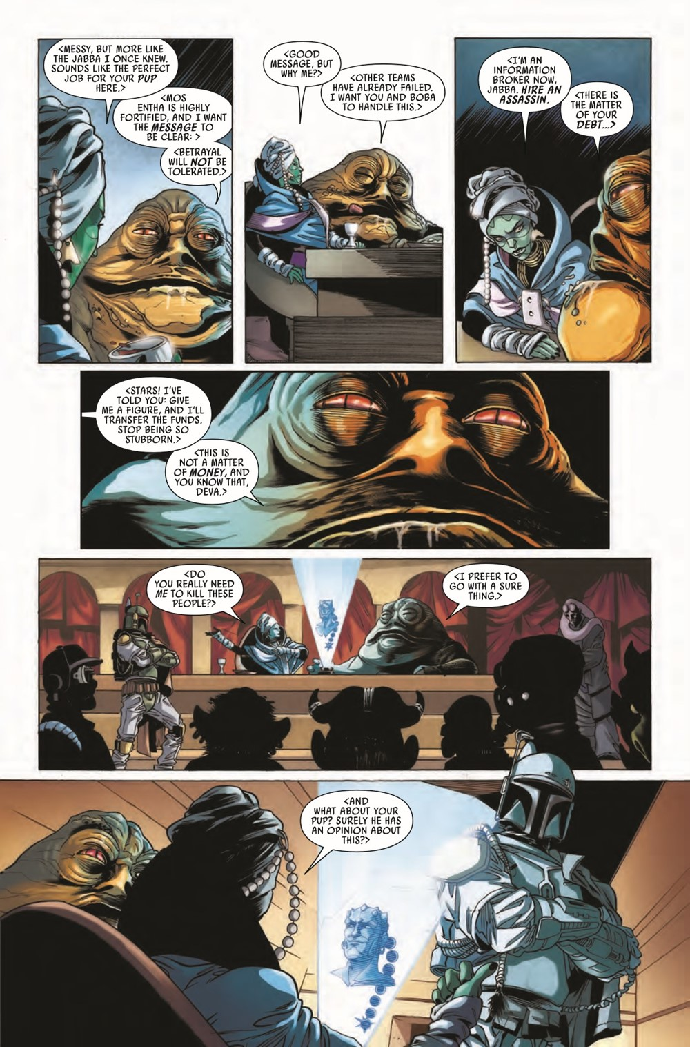 STWWAROTBHJABBAT2021001_Preview-6 ComicList Previews: STAR WARS WAR OF THE BOUNTY HUNTERS JABBA THE HUTT #1