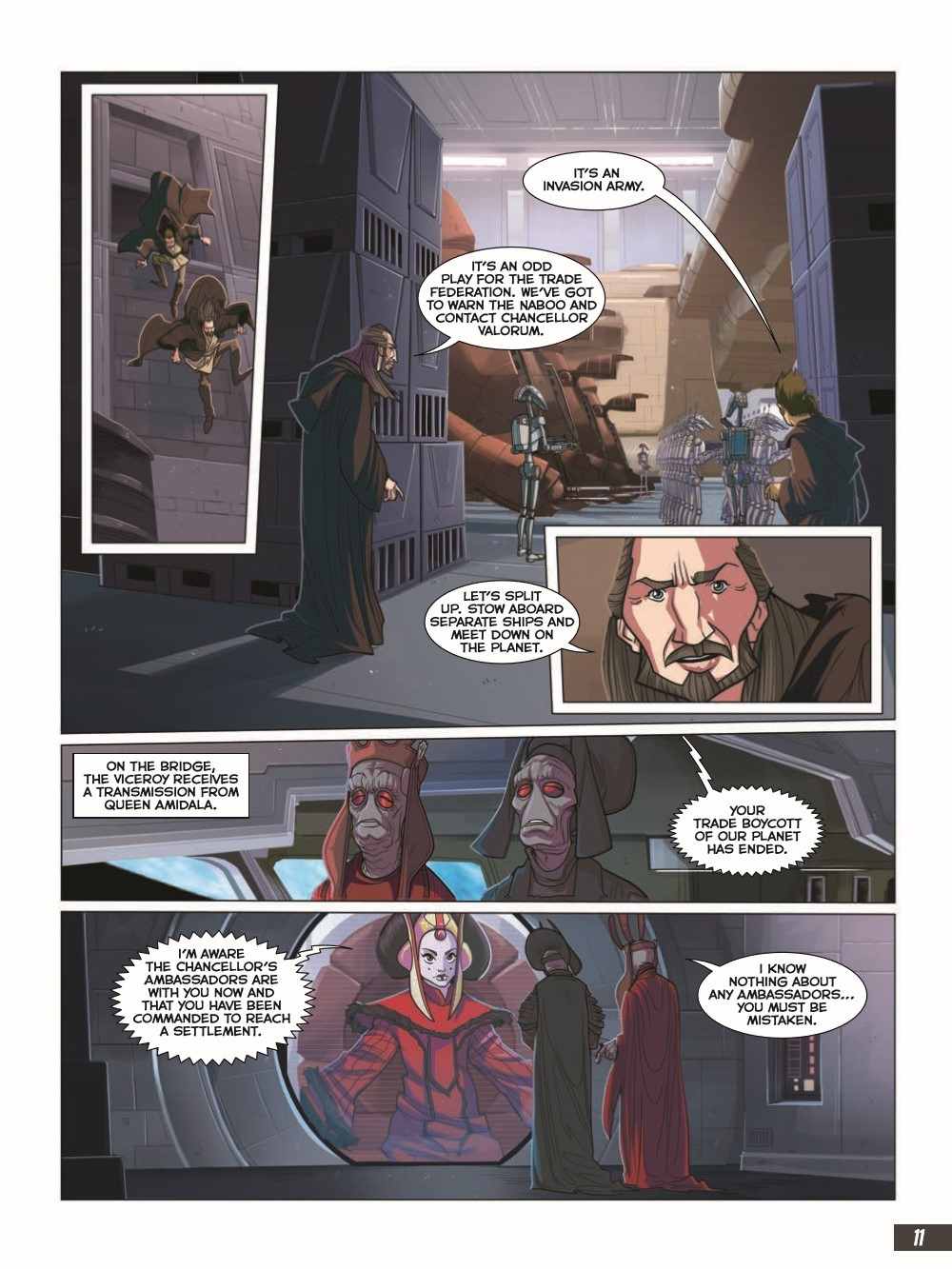 SW_The-Phantom-Menace_pr-7 ComicList Previews: STAR WARS THE PHANTOM MENACE GRAPHIC NOVEL ADAPTATION GN