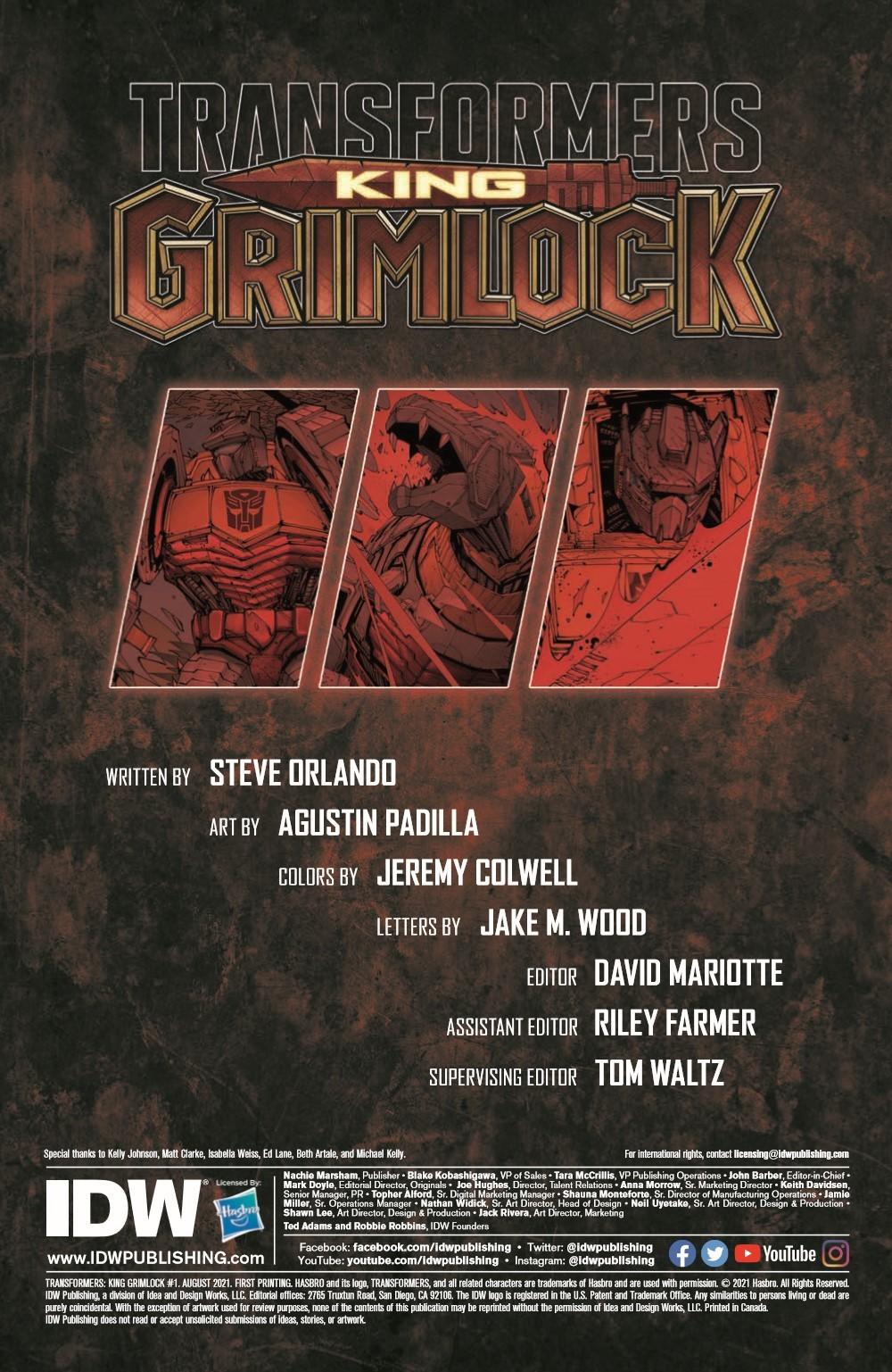 TFKingGrimlock01_pr-2 ComicList Previews: TRANSFORMERS KING GRIMLOCK #1 (OF 5)