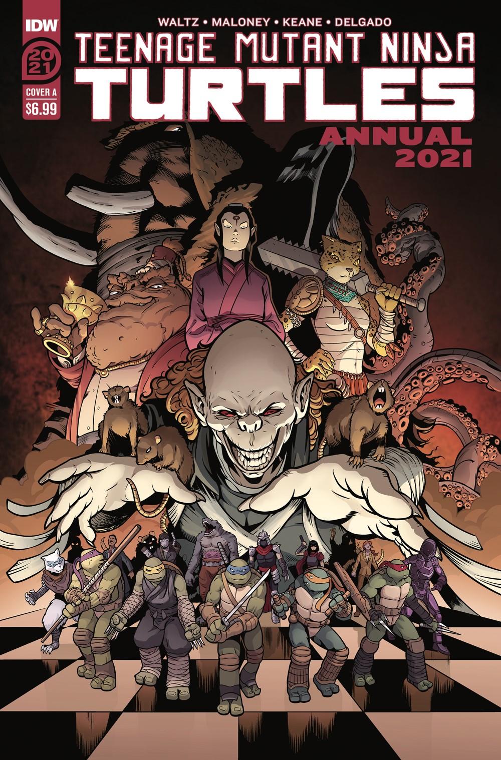 TMNT-Annual2021_cvrA ComicList Previews: TEENAGE MUTANT NINJA TURTLES ANNUAL 2021