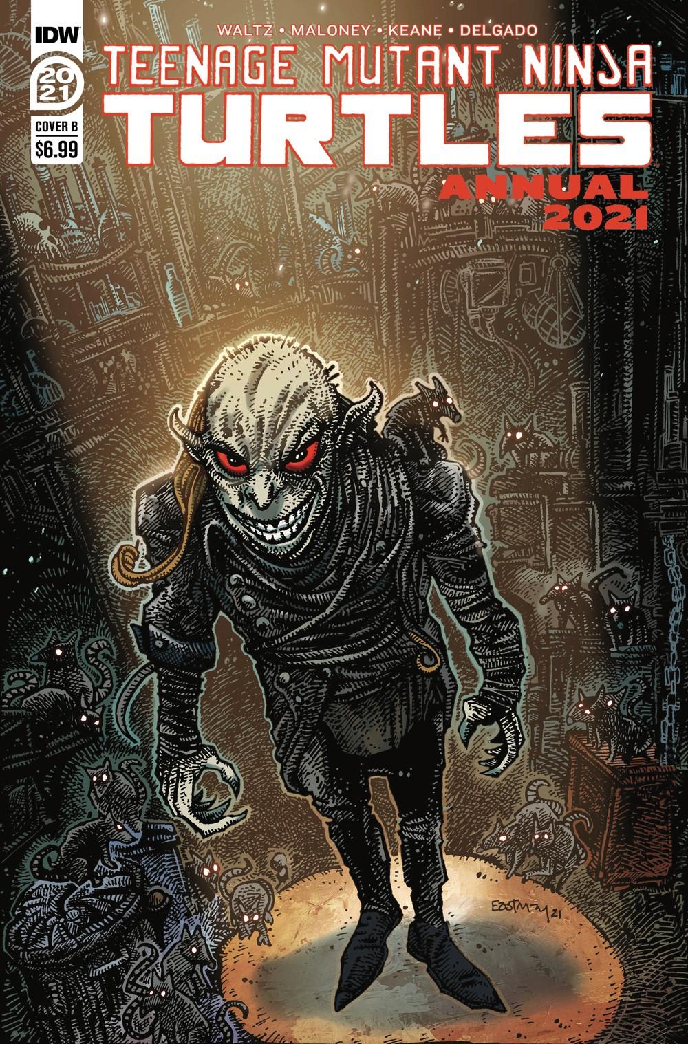 TMNT-Annual2021_cvrB ComicList Previews: TEENAGE MUTANT NINJA TURTLES ANNUAL 2021