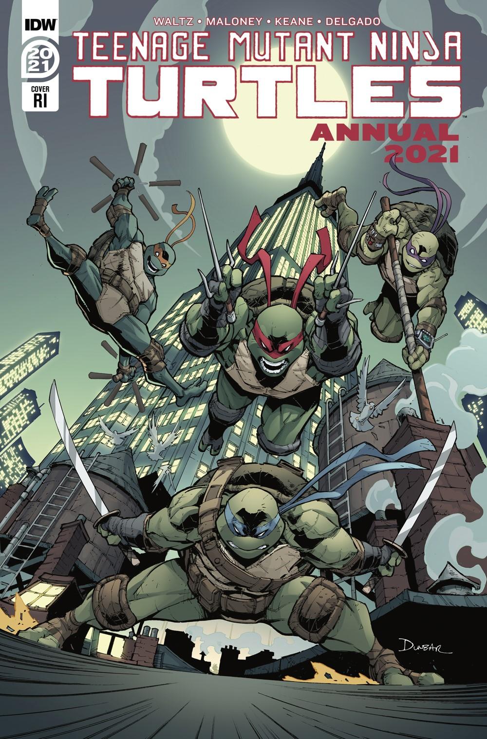TMNT-Annual2021_cvrRI ComicList Previews: TEENAGE MUTANT NINJA TURTLES ANNUAL 2021