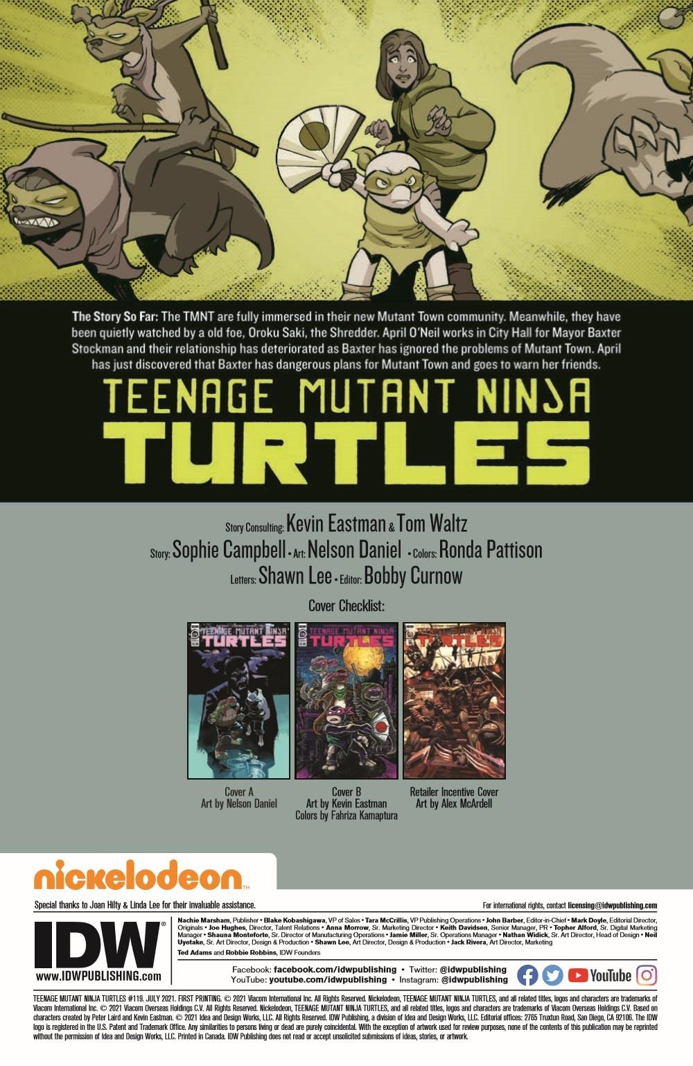 TMNT119_pr-2 ComicList Previews: TEENAGE MUTANT NINJA TURTLES #119