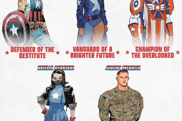 USCAP_0 All five local Captain Americas unite in THE UNITED STATES OF CAPTAIN AMERICA #5