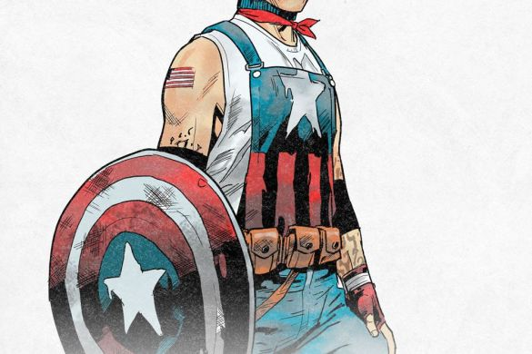 USCAP_AaronFischer All five local Captain Americas unite in THE UNITED STATES OF CAPTAIN AMERICA #5