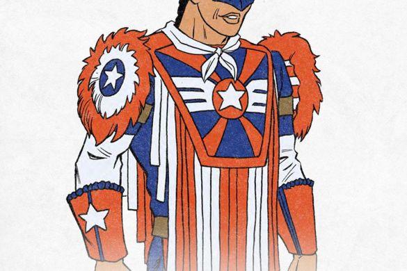 USCAP_JoeGomez All five local Captain Americas unite in THE UNITED STATES OF CAPTAIN AMERICA #5