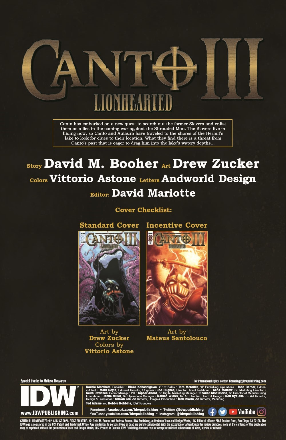 Canto-LH02_pr-2 ComicList Previews: CANTO III LIONHEARTED #2 (OF 6)