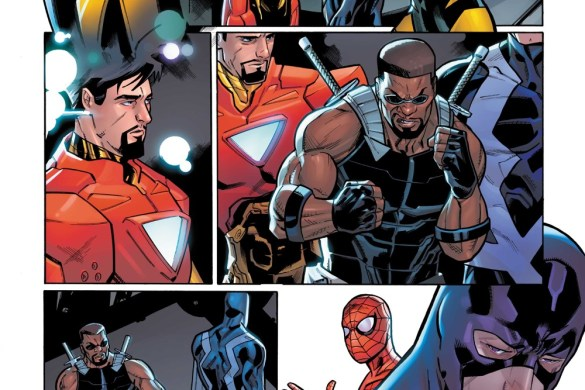 Darkhold_Alpha_3 Iron Man and Blade battle THE DARKHOLD this October