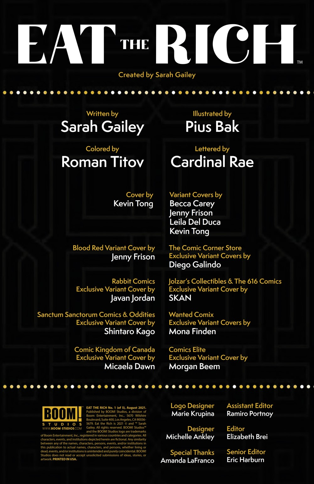 EatTheRich_001_PRESS_2 ComicList Previews: EAT THE RICH #1 (OF 5)