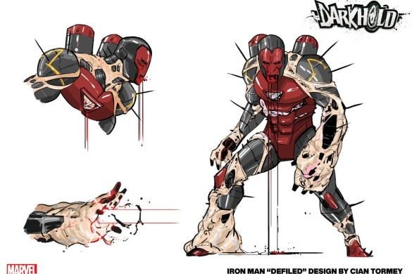 Iron_Man_Darkhold_Design Iron Man and Blade battle THE DARKHOLD this October