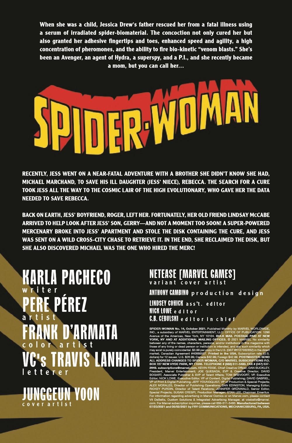 SWOMAN2020014_Preview-2 ComicList Previews: SPIDER-WOMAN #14
