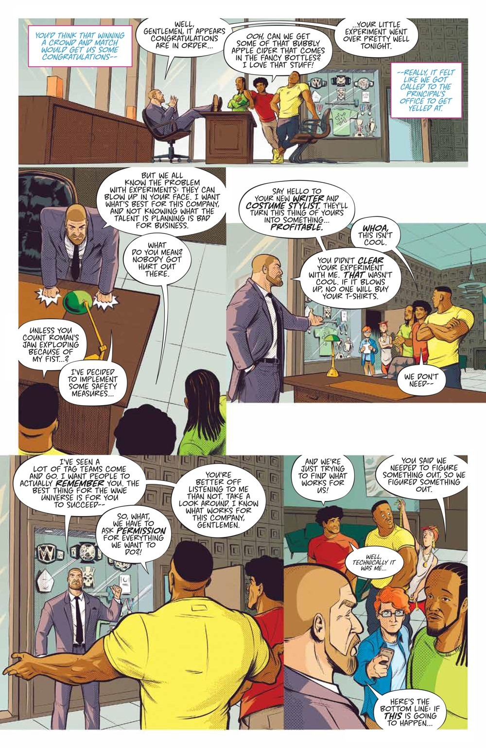 WWE_NewDay_002_PRESS_3 ComicList Previews: WWE THE NEW DAY POWER OF POSITIVITY #2 (OF 2)