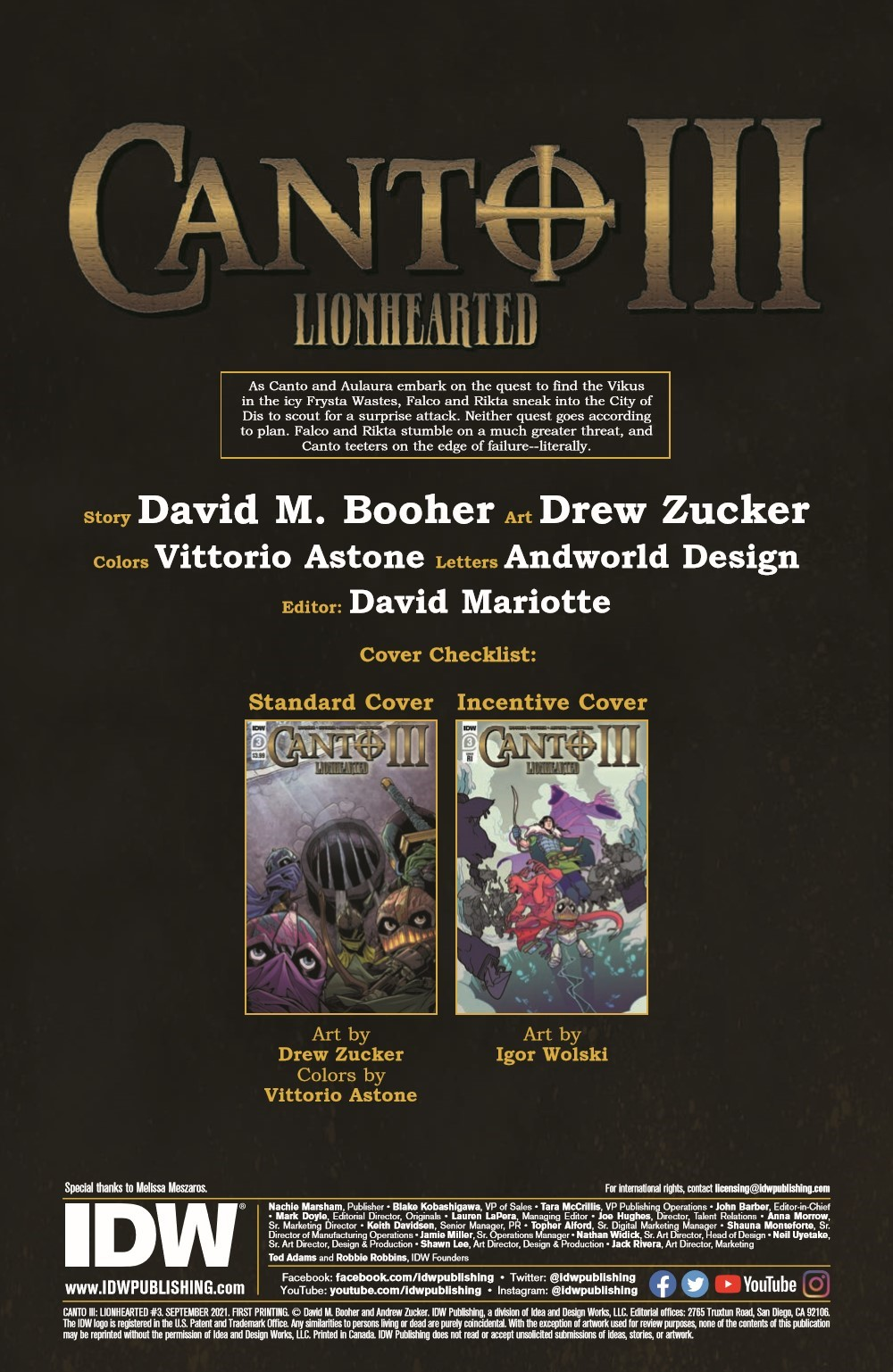 Canto-LH03_pr-2 ComicList Previews: CANTO III LIONHEARTED #3 (OF 6)