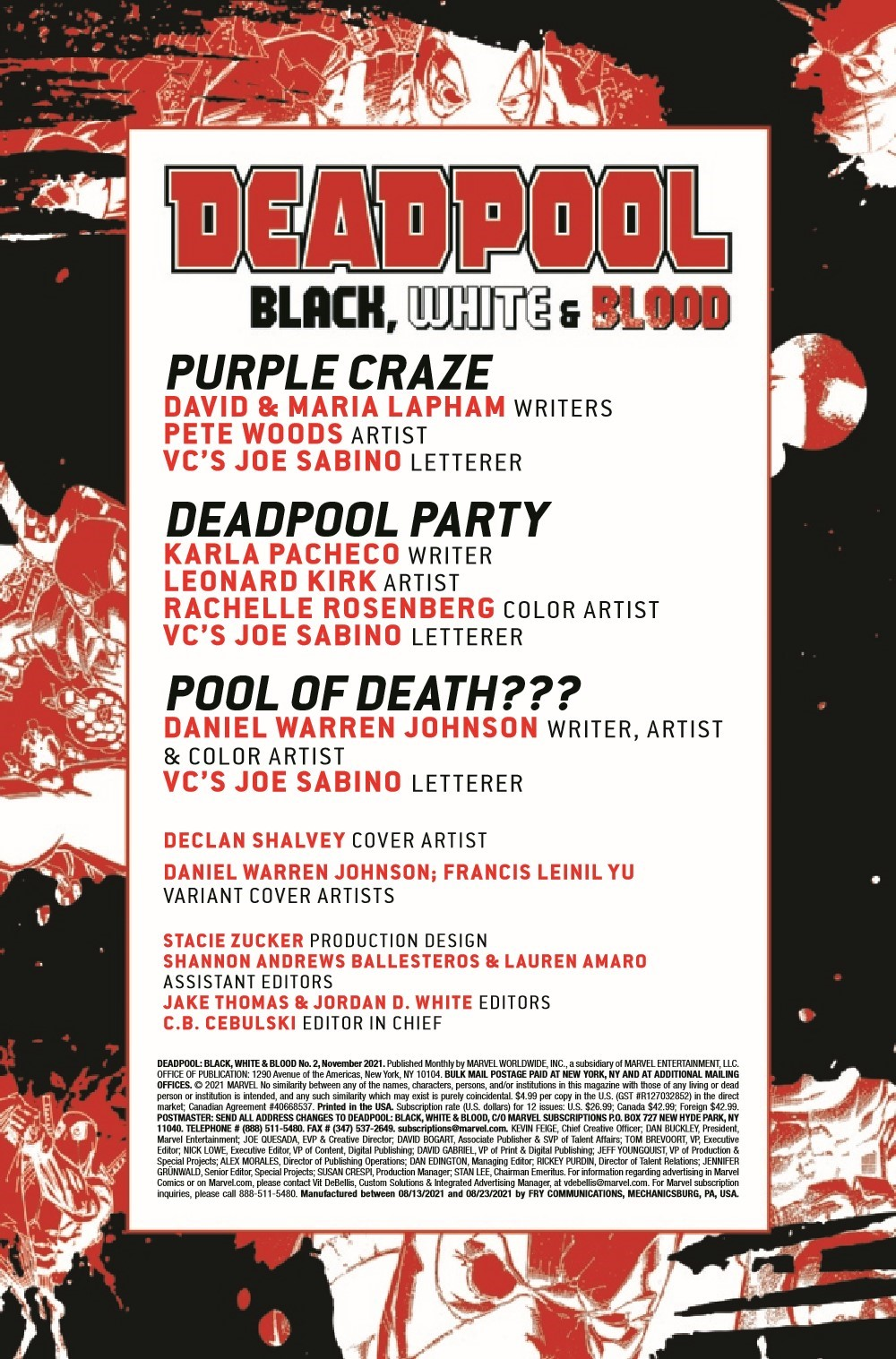 DPOOLBLKWHBL2021002_Preview-2 ComicList Previews: DEADPOOL BLACK WHITE AND BLOOD #2 (OF 4)