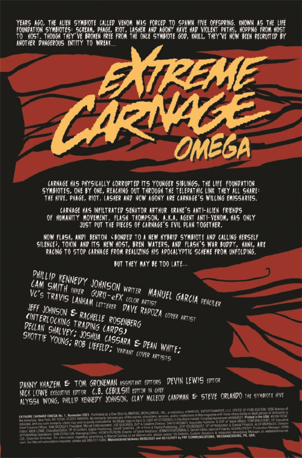 EXTCARNO2021001_Preview-2 ComicList Previews: EXTREME CARNAGE OMEGA #1