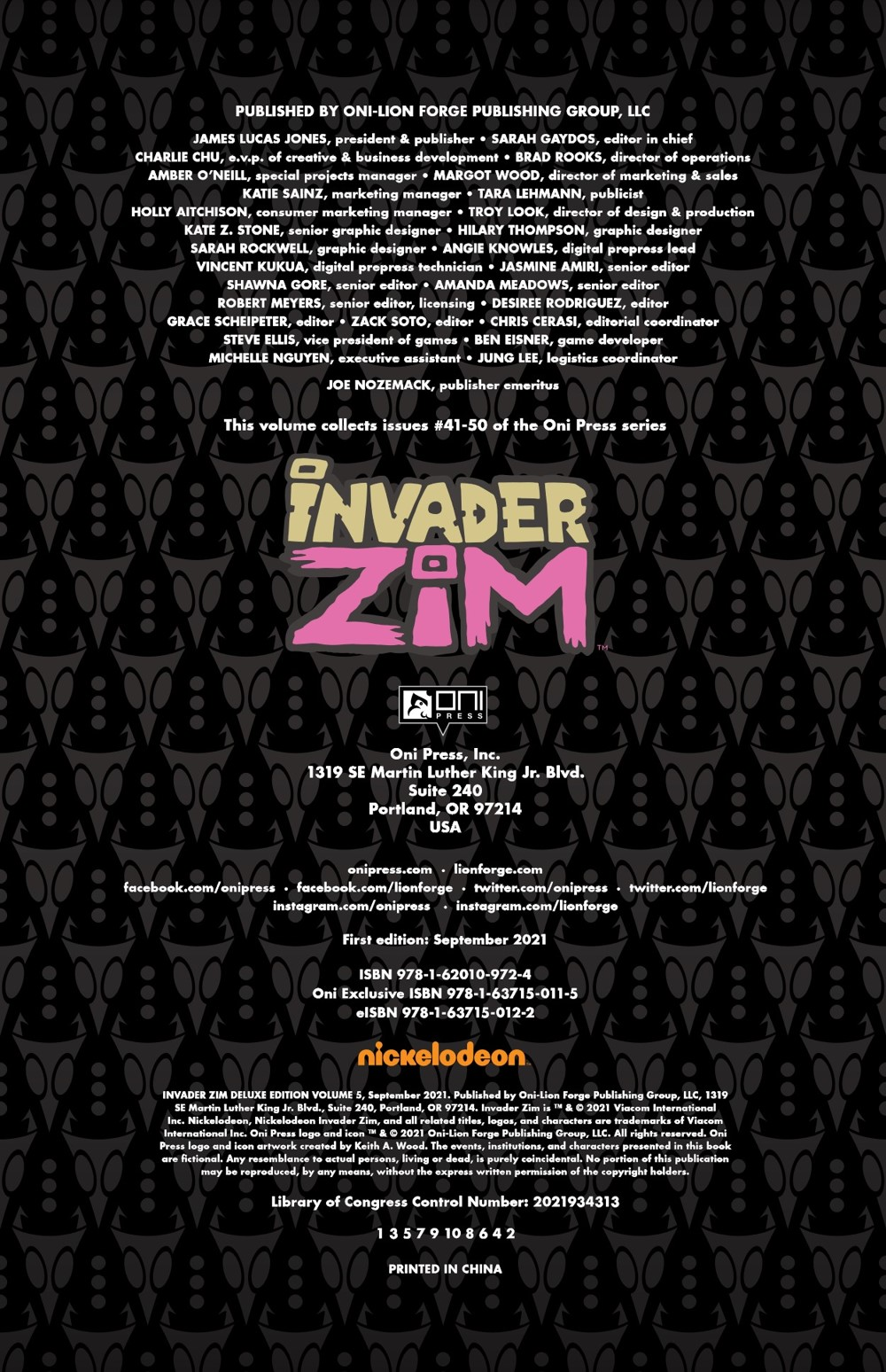 INVADERZIM5-HC-REFERENCE-005 ComicList Previews: INVADER ZIM DELUXE EDITION VOLUME 5 HC