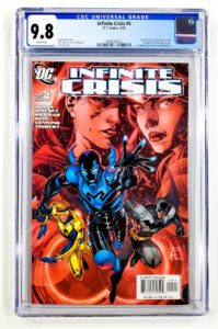 Infinite-Crisis-5-CGC-9-8-Front-e1630529217367-199x300 Is Blue Beetle Worth The Investment?