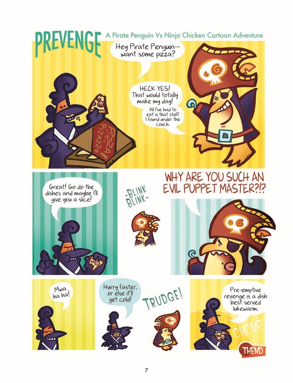 PPvNC_3_HC_pr-7 ComicList Previews: PIRATE PENGUIN VS NINJA CHICKEN VOLUME 3 MACARONI AND BEES HC
