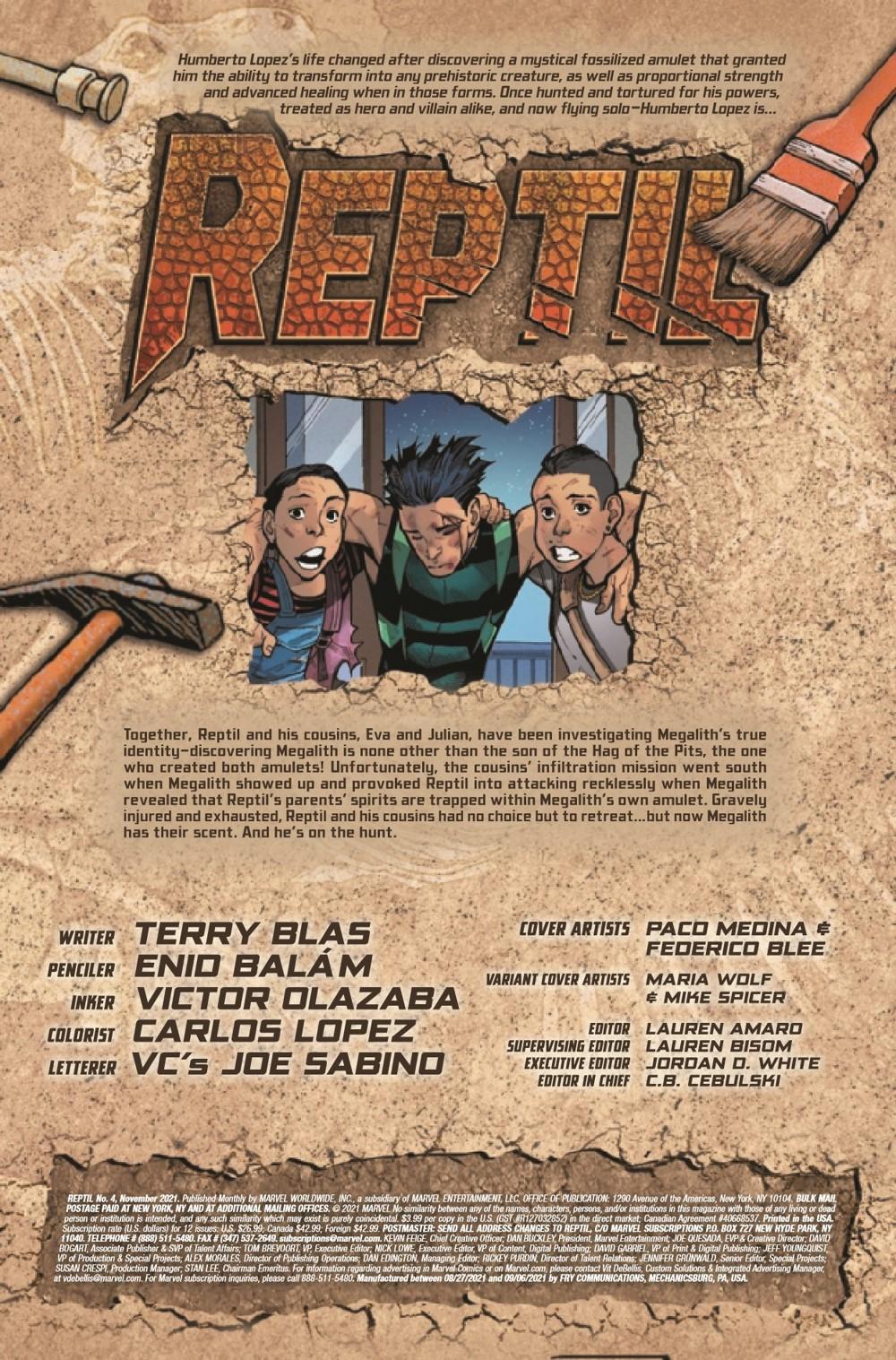 REPTIL2021004_Preview-2 ComicList Previews: REPTIL #4 (OF 4)