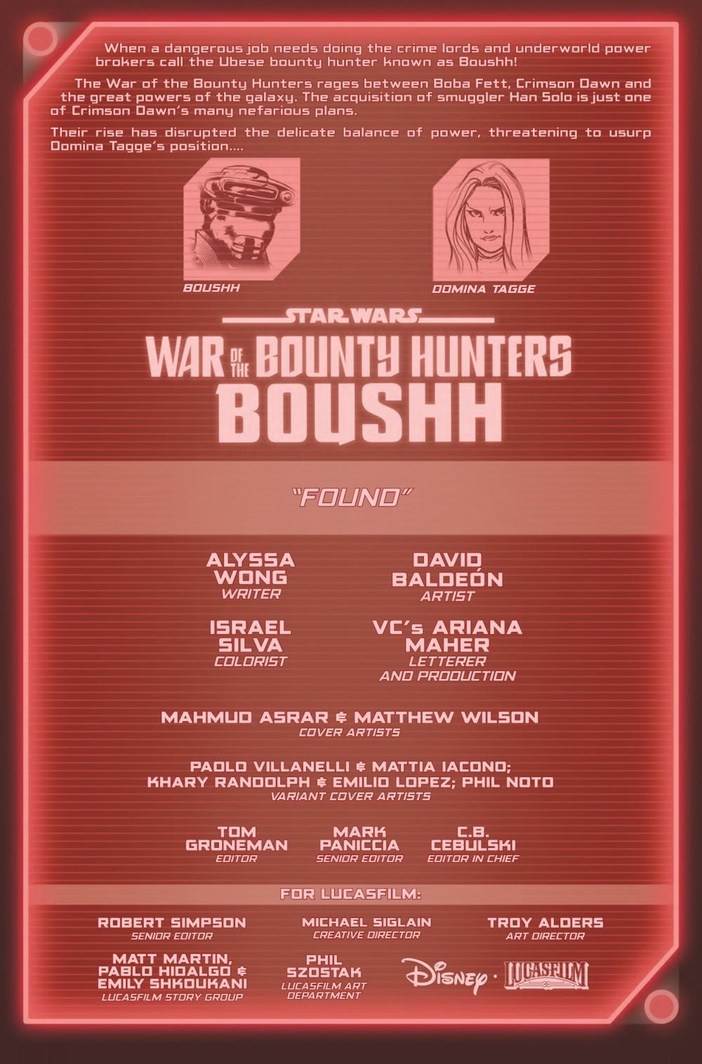 STWWAROTBHBOUSHH2021001_Preview-2 ComicList Previews: STAR WARS WAR OF THE BOUNTY HUNTERS BOUSHH #1