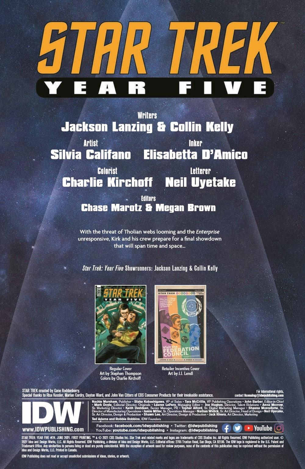 ST_YearFive24-pr-2 ComicList Previews: STAR TREK YEAR FIVE #24