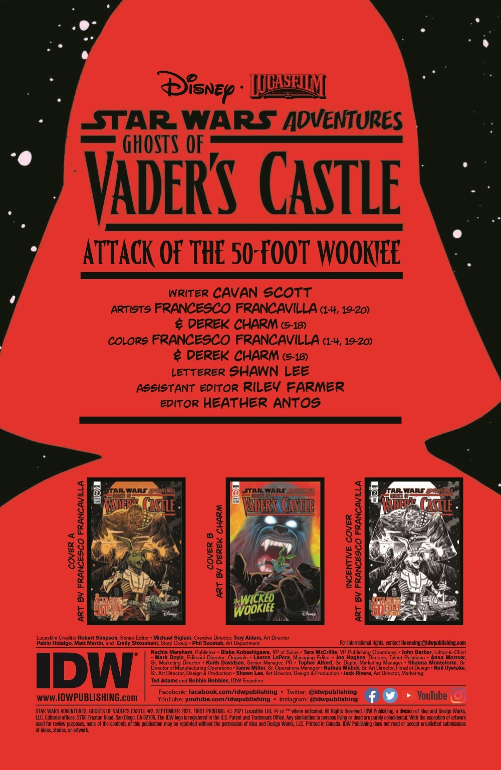 SW_GoVC02_pr-2 ComicList Previews: STAR WARS ADVENTURES GHOST OF VADER'S CASTLE #2 (OF 5)