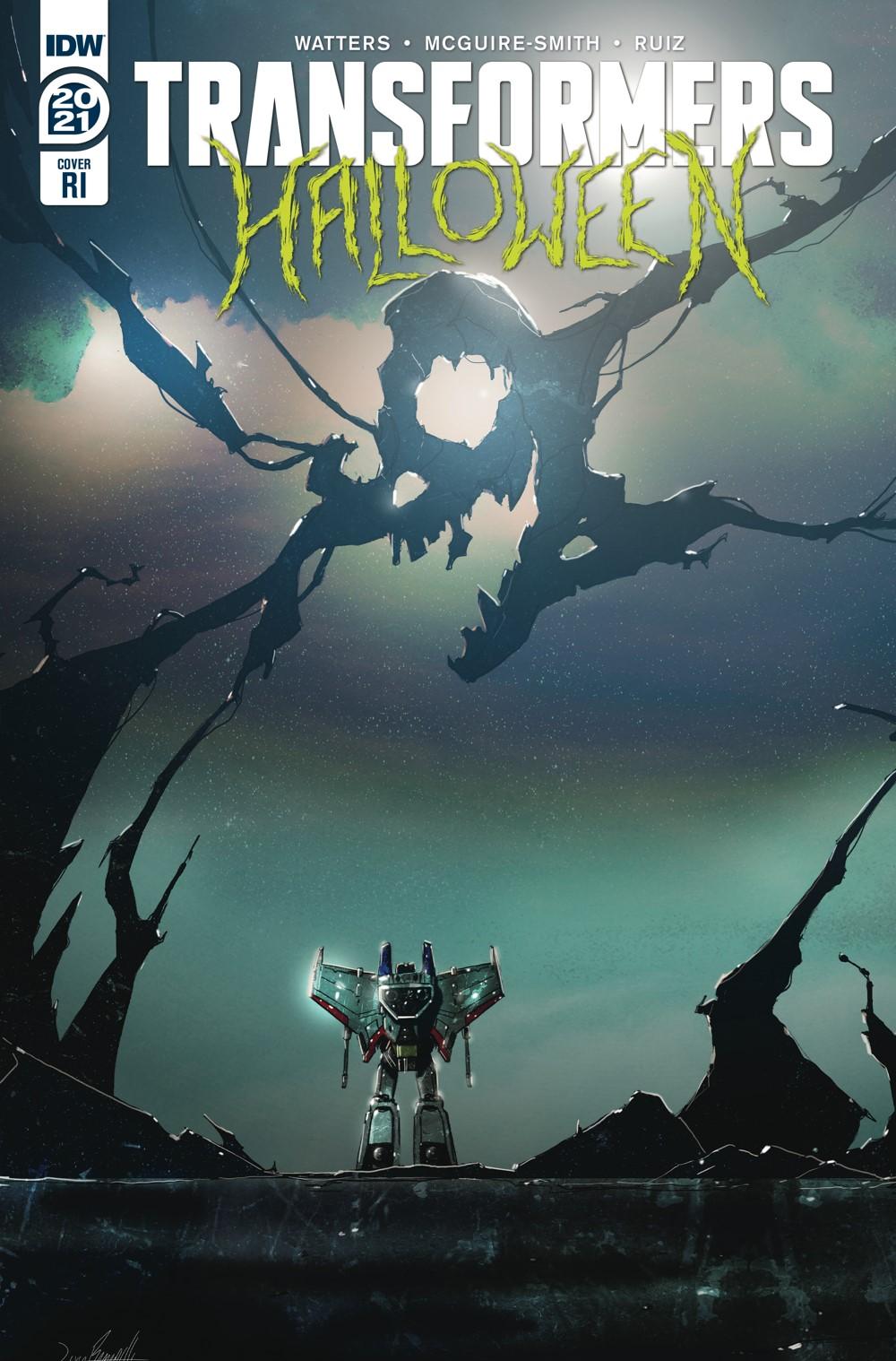 TFHalloween-cvr-RI ComicList Previews: TRANSFORMERS HALLOWEEN SPECIAL #1