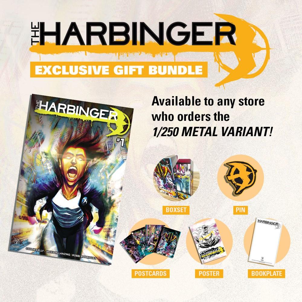 THE-HARBINGER-GIFT-BUNDLE Valiant announces THE HARBINGER #1 retailer extras