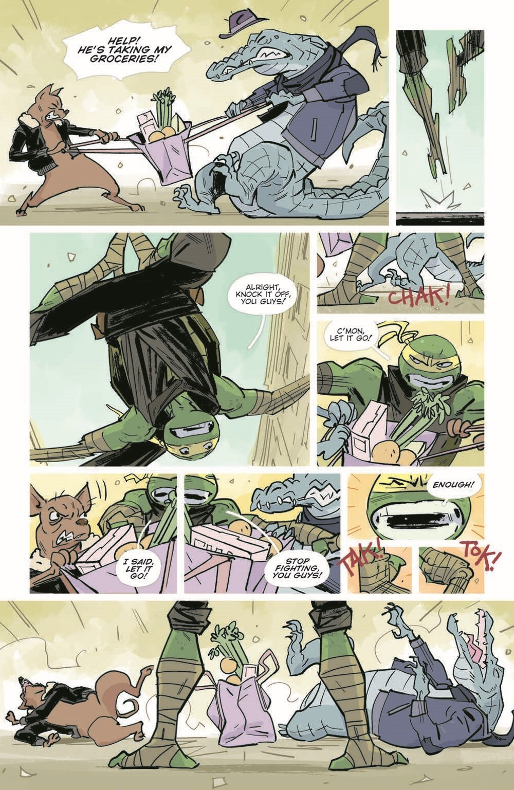 TMNT-Jennika02_pr-6 ComicList Previews: TEENAGE MUTANT NINJA TURTLES JENNIKA II TP