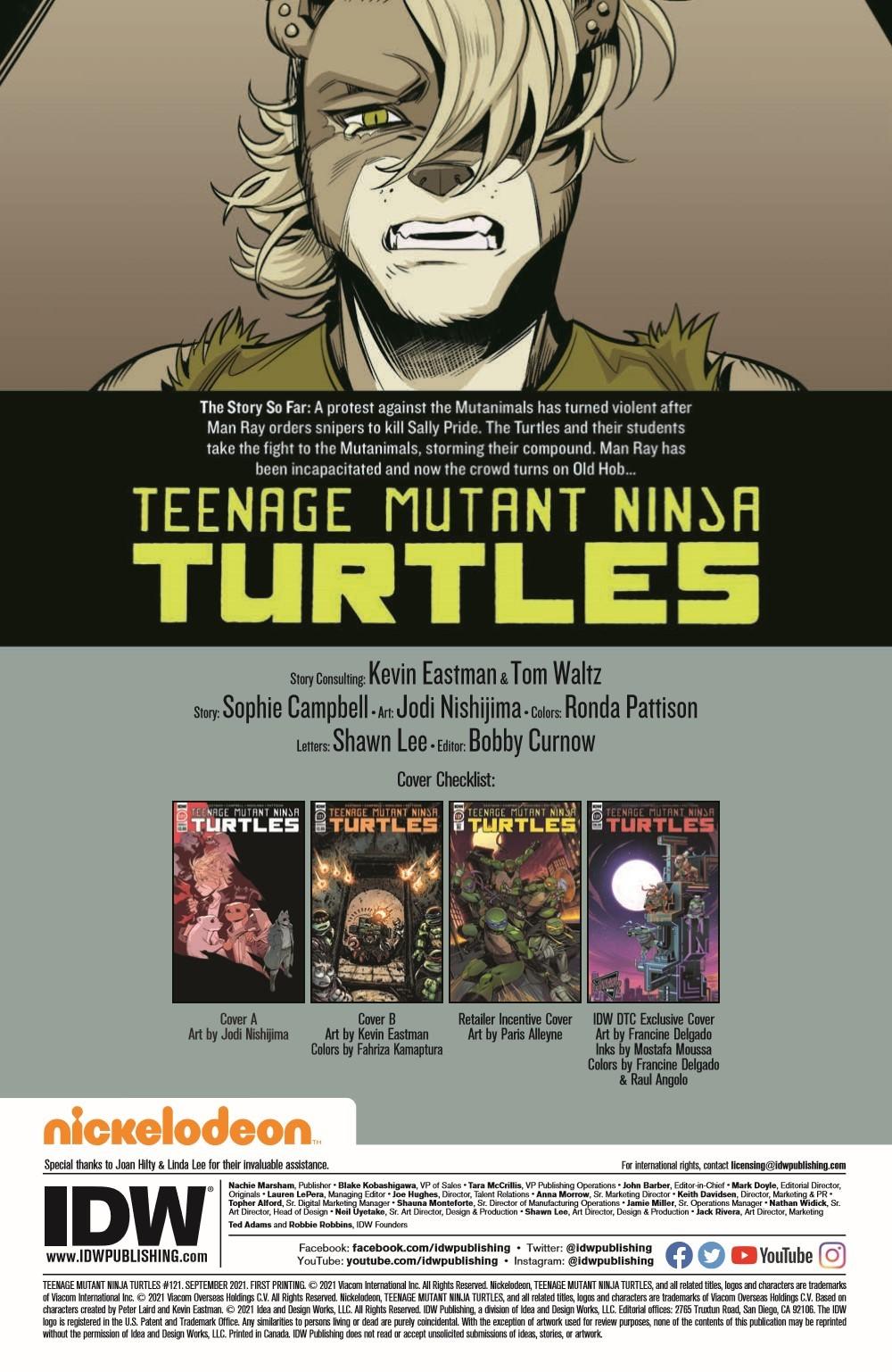 TMNT121_pr-2 ComicList Previews: TEENAGE MUTANT NINJA TURTLES #121