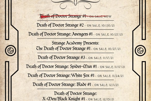 Death-of-Doctor-Strange_checklist Magic and murder collide in the finale of DEATH OF DOCTOR STRANGE